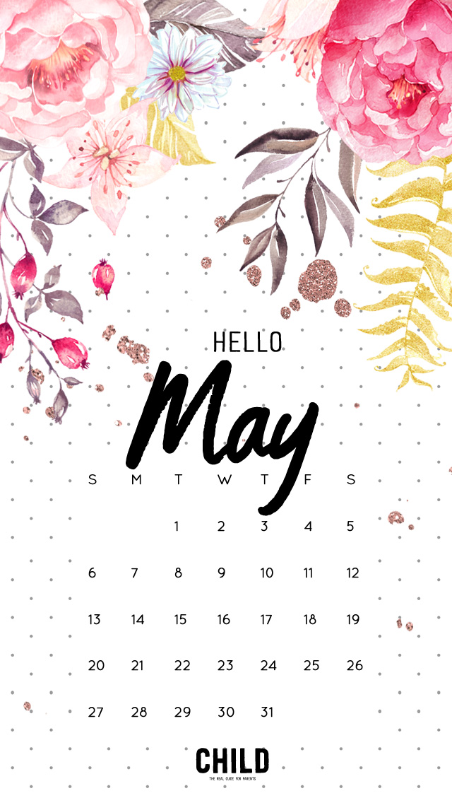 Wallpaper Phone Cute Free May 2018 Calendar Wallpaper