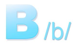 Letter B, /b/