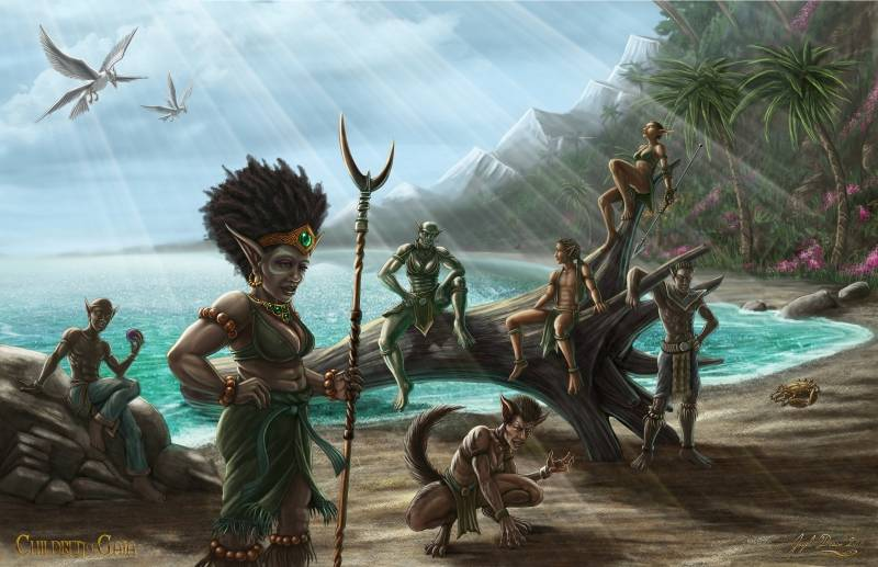 alay'otu's refugees digital painting children of gaia by jayel draco