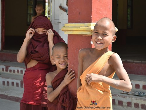 children smiling from sasana orphanage myanmar - children do matter