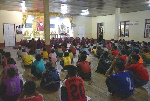 praying orphans at sasana orphanage - children do matter