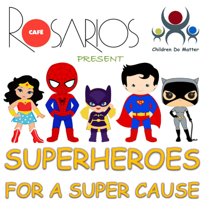 superheroes for a super cause rosarios cafe bristol - children do matter