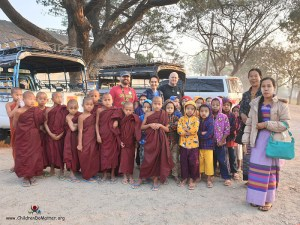 train station in shwenyaung - children do matter
