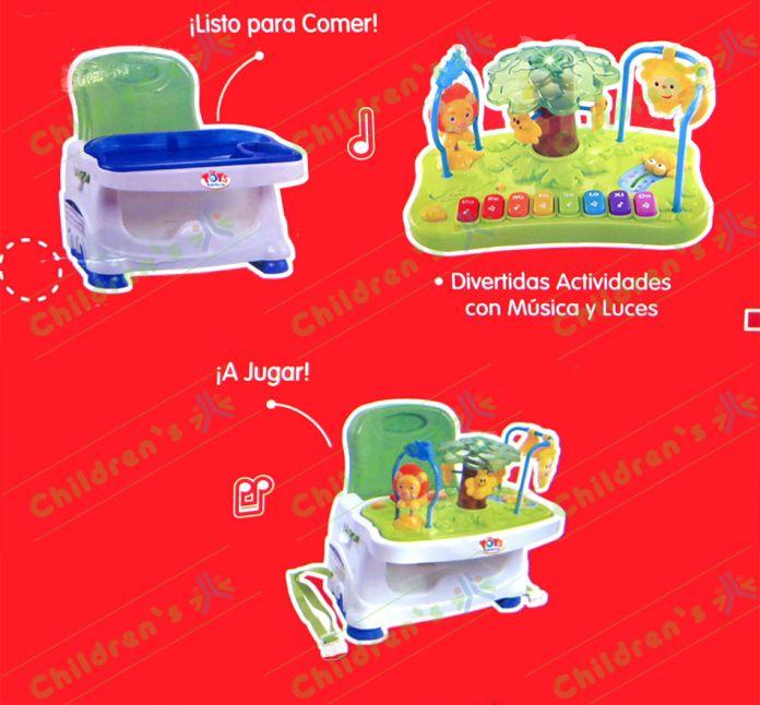 Childrens  Rainbow Booster silla de comer con juegos