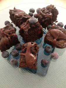 Blueberry Chocolate Chip Brownies with Ganache Photo: LSG