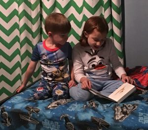 "Best to read ""real"" books before bedtime! Photo: PPW"