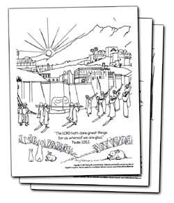 Bible Philip and Ethiopian Coloring Pages
