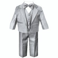 Baby Boys Silver Grey Suit