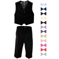 Boys Black 3 Piece Bow Tie Suit