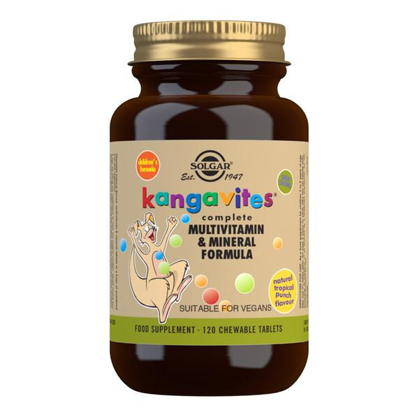 Kangavites Tropical Punch Complete Multivitamin and Mineral Formula Chewable 120 Tablets
