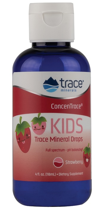 ConcenTrace Kid's Trace Mineral Drops, Strawberry – 118 ml.