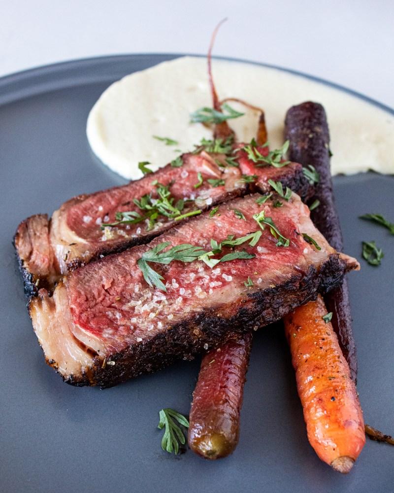 parsnips, coconut, carrots, steak