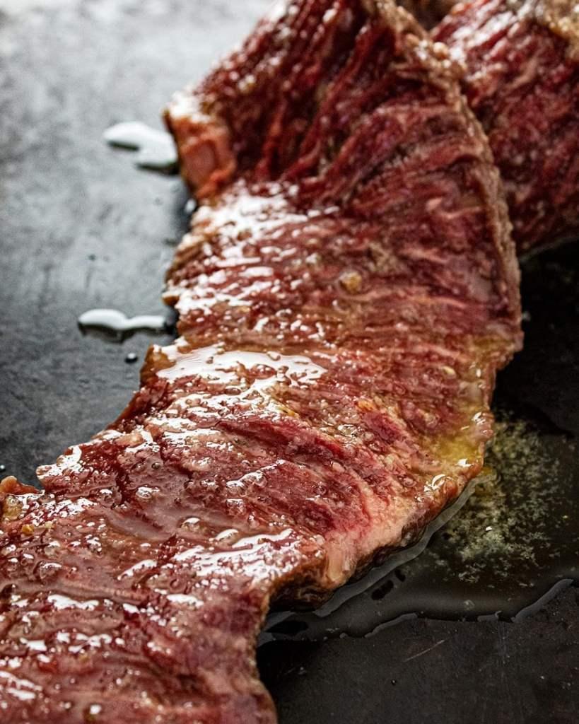 skirt steak with garlic marinade