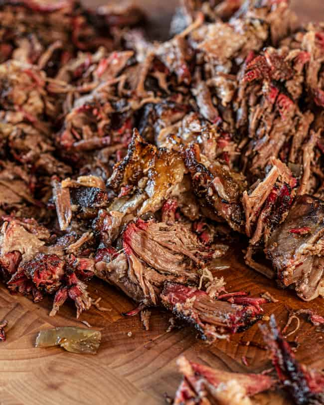 pulled beef smoked chuck roast