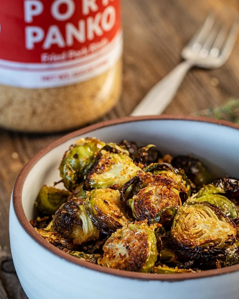 brussels sprouts with pork panko