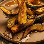 acorn squash roasted with pork