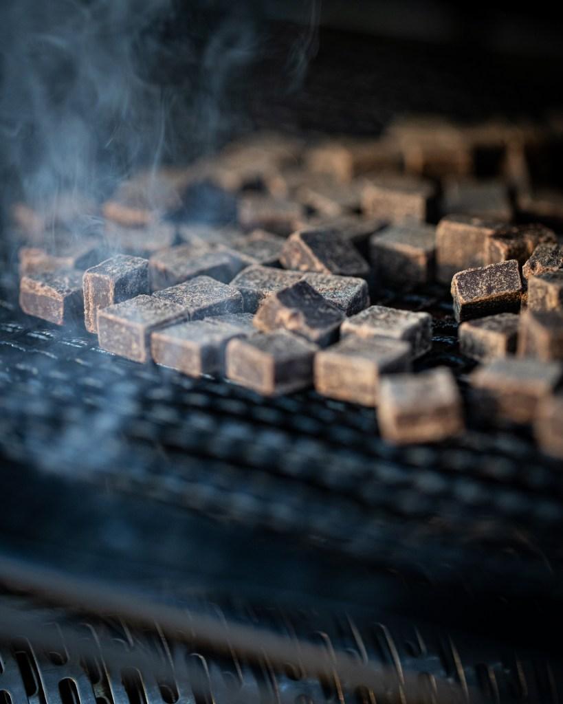 smoking dark chocolate on the pellet grill