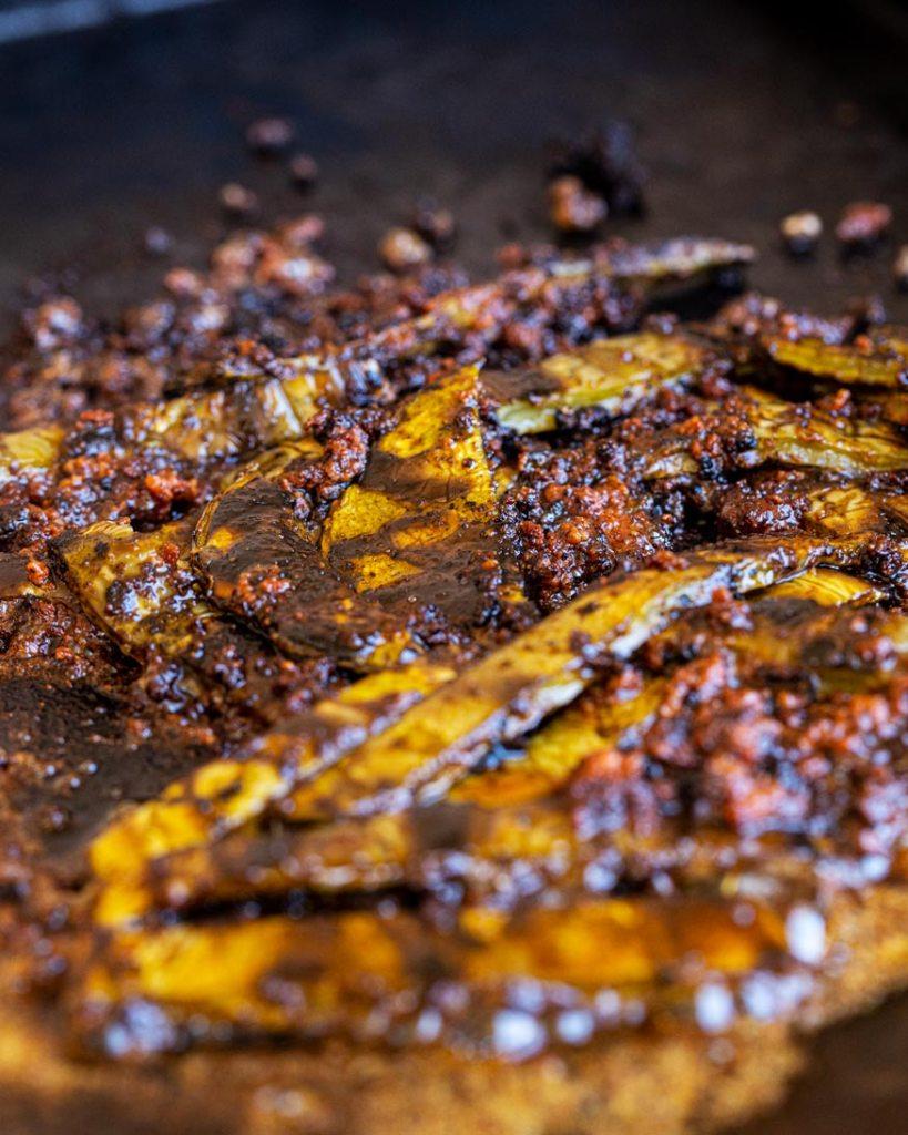 chorizo and nopales cooking