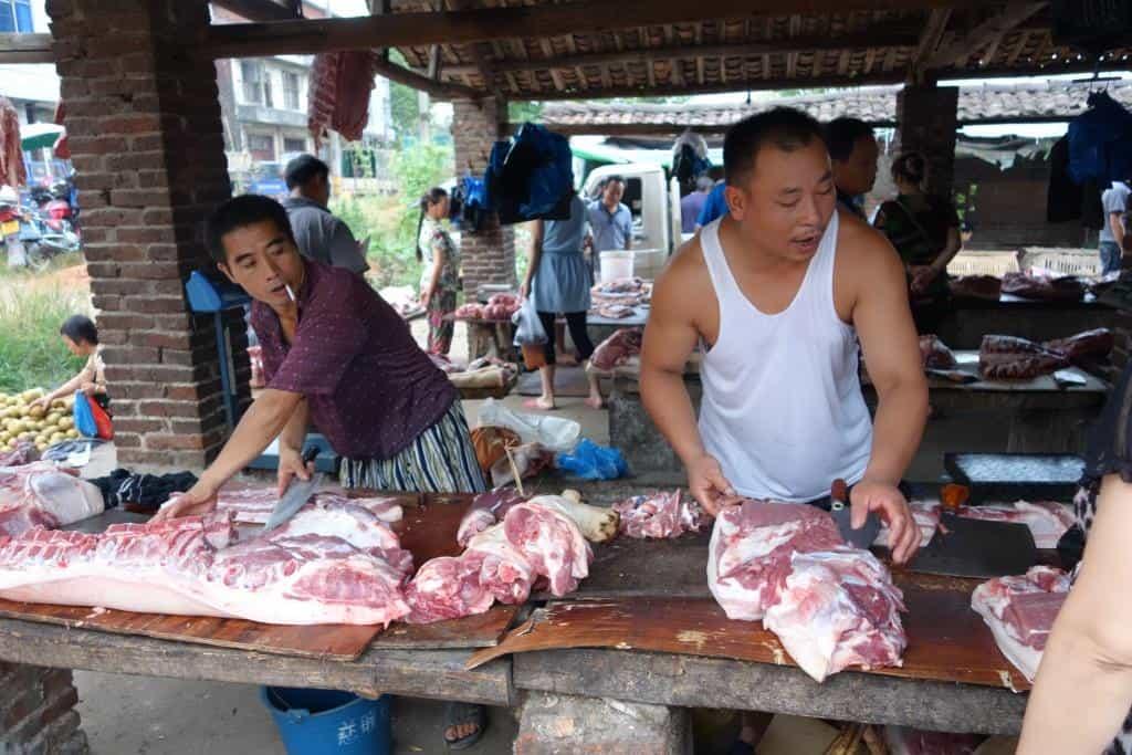 Marktmontag: JiuBuJiang, YouXian, Hunan, China