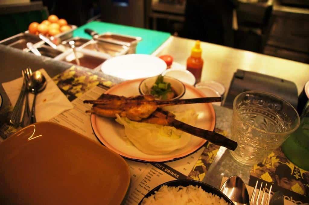 Chachawan: Hühnerfleischspiesschen