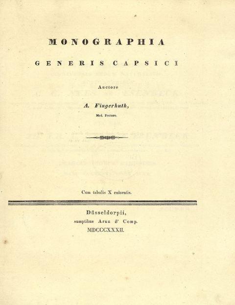 Capsicum: Early Botanical Texts on Capsicum
