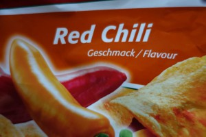 'Red Chili' flavor of chips...
