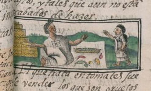 Codex Florentino, Chiliverkäufer