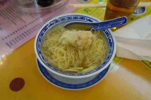 Wonton-Egg Noodle-Soup at Mak's Noodle, Hong Kong