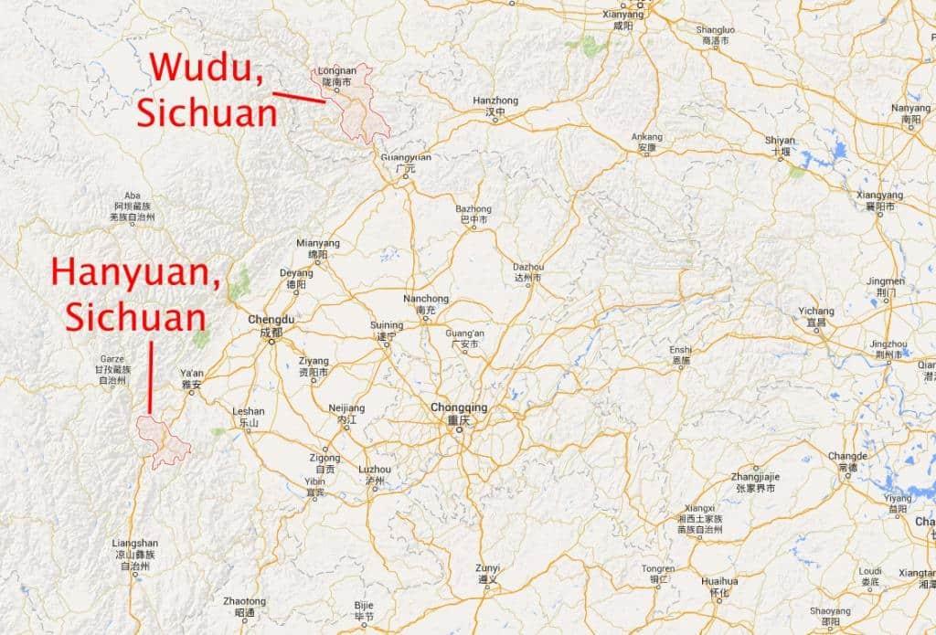 Sichuan, Wudu & Hanyuan