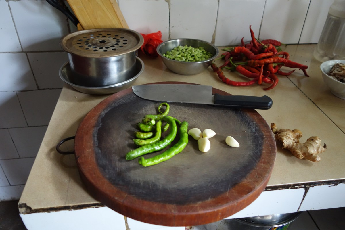 Mise en place in Hunan