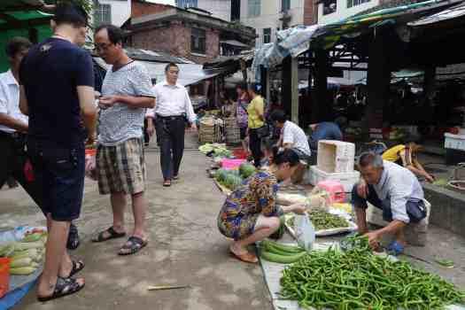 Ländlicher Markt, Hunan, China