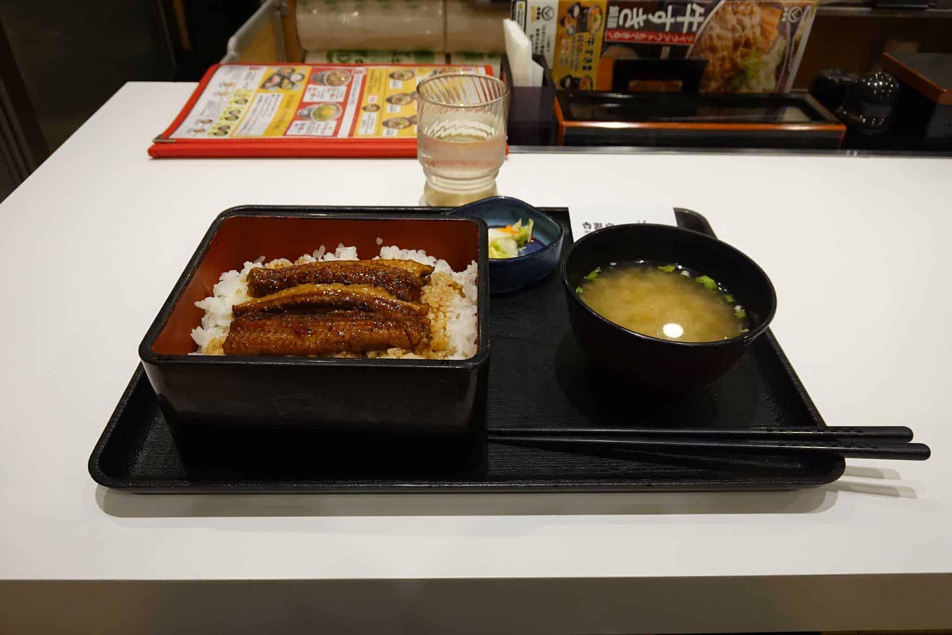 Seeking Spice in Japan 16: Yoshinoya at the Airport for Unagi