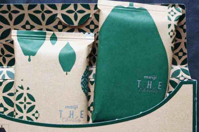 Meiji The Chocolate Matcha, Single Packets Inside