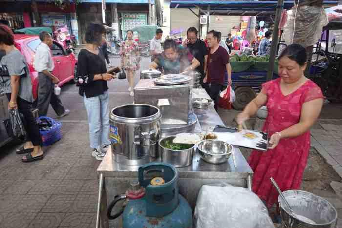 Changfen- (gedämpfte Reisnudeln) Stand