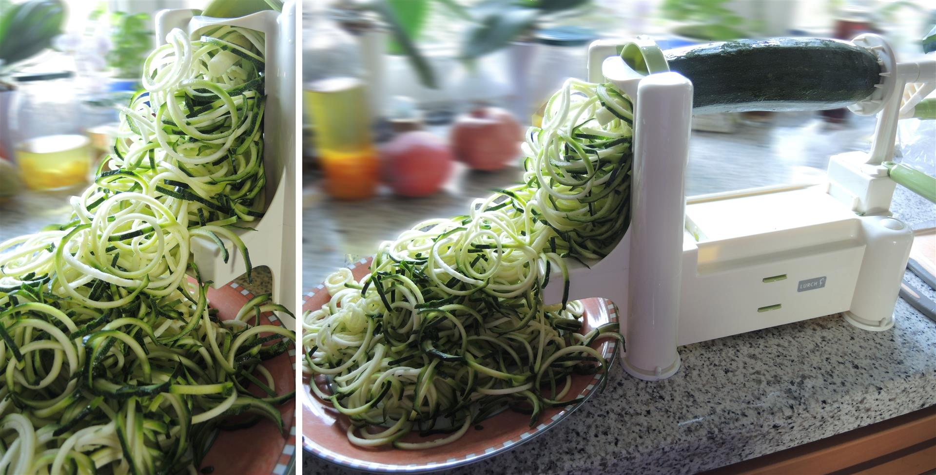 zucchini spaghetti mit frischer tomatenso e vegan chilirosen. Black Bedroom Furniture Sets. Home Design Ideas