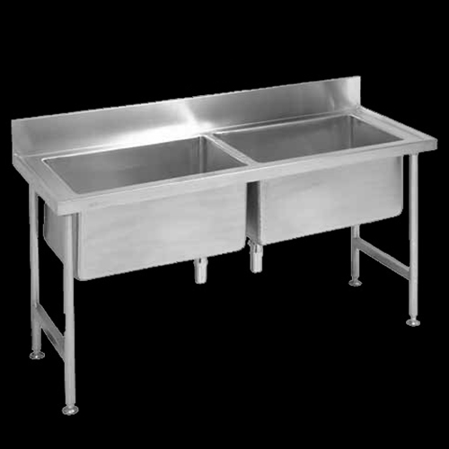 Catering sinks  tables  Stainless steel shelving  Pot sinks