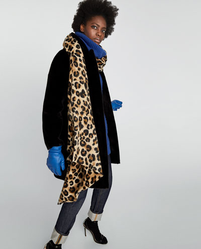 ZARA Animal print scarf £17.99