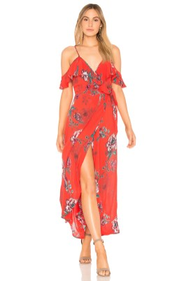 SHADOW FLORAL FAUX WRAP DRESS BAND OF GYPSIES Band of Gypsies £55.61