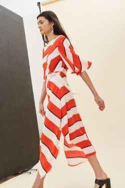Diagonal Stripe Midi Dress £49