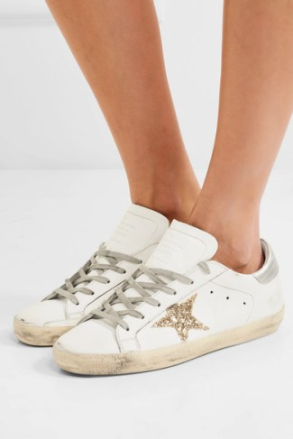 Golden Goose glittered distressed leather sneakers £310