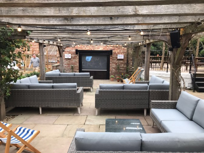 Outdoor space at The Bull and Swan