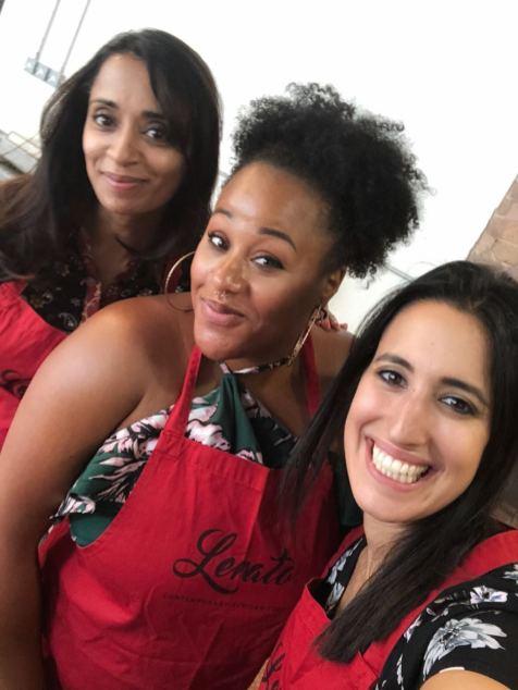 With Sareta from Kiki blah blah and Jenny from mamazou