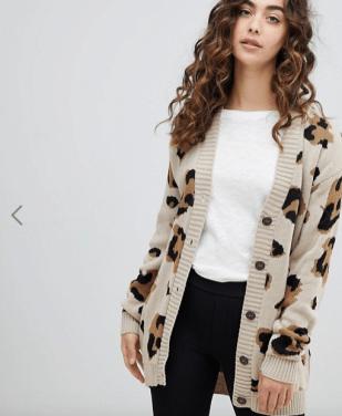ASOS Cardigan Leopard £21.99