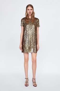 Zara Sequin Leopard Print £39.99