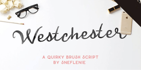 Handwritten Style- Westchester Font for postcards