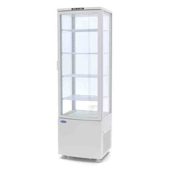 maxima-refrigerated-display-case-235l-white