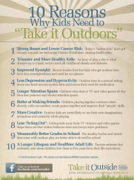 'Take it outdoors' poster