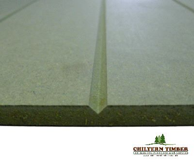 VGrooved Profile UNPRIMED MDF Long Groove 2440 x 1220 x