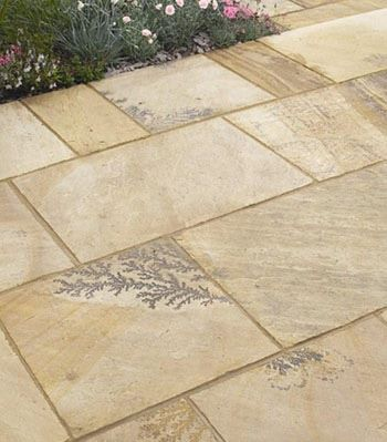 Indian Sandstone Paving  Mint Fossil 1525m2 Pack