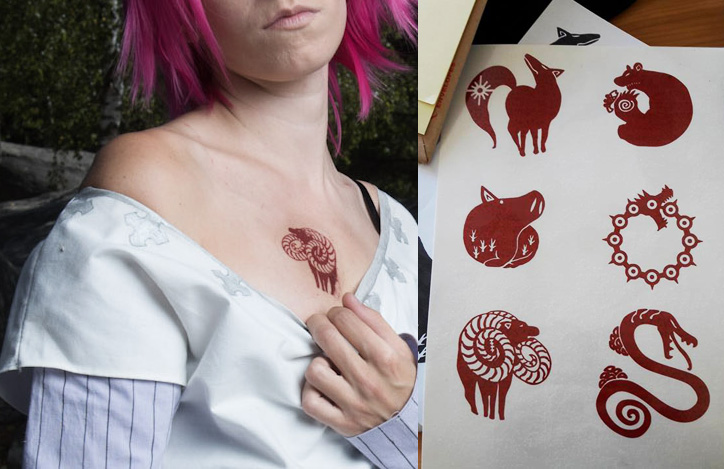 Seven Deadly Sins cosplay - tatoo